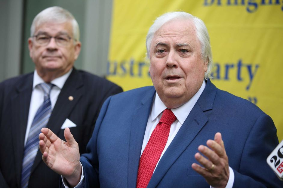 KEY FACTOR: THE PALMER UNITED PARTY