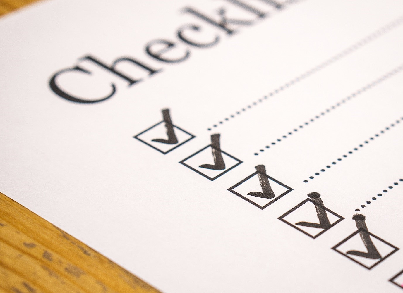 HAVE YOU PREPARED YOUR END OF YEAR CHECKLIST?